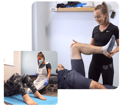 A physiotherapist performing manipulation and rehabilitation exercises in huddersfield