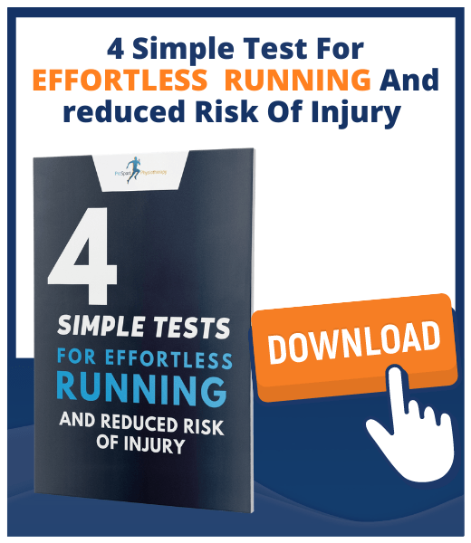 4 Simple Tests For Effortless Running - Physio Tips For Effortless running and reduced risk of injury - PDF Download Guide